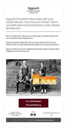 """Sygusch Immobilien Rhein-Main darf zum vierten Mal den Titel """"Premium Partner"""" führen und zählt damit deutschlandweit zu den """"Besten der Branche""""."""