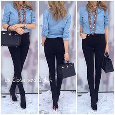 Last night - #Zara shirt, #Chanel necklace, #J_Brand high waist jeans, #Louboutin 100 boots and #Hermès #Birkin 25. #Padgram