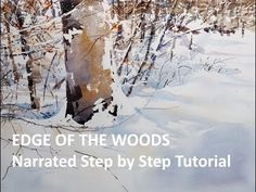 Transparent Watercolor Narrated Tutorial, Edge of the Woods - YouTube