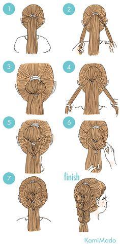 Loop braid ! Goes for short hair too:)