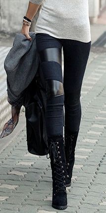 I don't have the skinny little legs for this, but I like it - leather leggings | StyleCaster