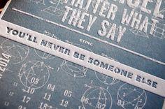 The 2014 letterpress calendar Creative Manifesto by www.mr-cup.com