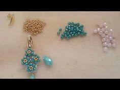 Live Creativo Con Rossy - YouTube Seed Bead Earrings, Beaded Earrings, Earrings Handmade, Handmade Jewelry, Beading Patterns Free, Beaded Jewelry Patterns, Jewelry Making Tutorials, Beading Tutorials, Beaded Cross
