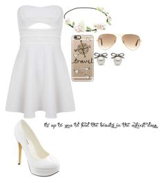 """""""Untitled #778"""" by wish-and-dream ❤ liked on Polyvore featuring Miss Selfridge, Michael Antonio, Casetify and Ray-Ban"""