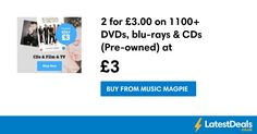 2 for on DVDs, blu-rays & CDs (Pre-owned) at MusicMagpie at Music Magpie Music Magpie, Blu Rays, Tv, Film, Movie, Film Stock, Television Set, Cinema, Films