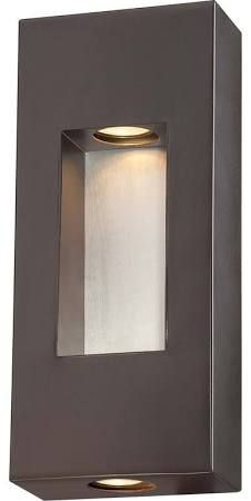 The Great Outdoors 72371-615B 2 Light ADA Compliant Outdoor Wall Sconce from the Dorian Bronze Outdoor Lighting Wall Sconces Outdoor Wall Sconces
