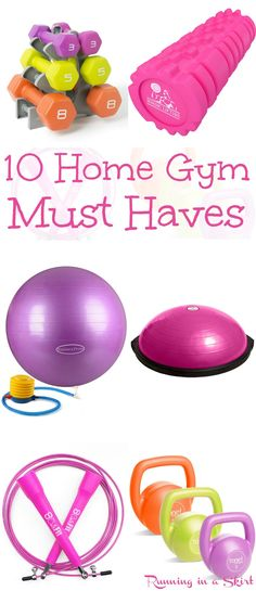 10 Home Gym Must Haves (That Won't Break the Bank!) Budget buys to create your own awesome healthy spaces in your home. Fun products that don't take up a lot of space, but the job done! / Running in a Skirt
