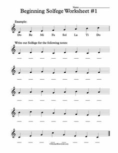 Free Solfege Worksheets for Classroom Instruction – Musical instruments Learn Singing, Singing Lessons, Singing Tips, Music Math, Music Classroom, Piano Lessons, Music Lessons, Art Lessons, Music Theory Worksheets