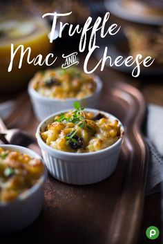 There's mac and cheese, and then there's Truffle Mac and Cheese. If you want more flavor, try this Publix recipe. Toss cooked pasta with truffle oil. Add truffle oil, mushrooms, and thyme into a sauté pan to cook until mushrooms are golden. Stir in Alfredo sauce, and combine Italian-blend cheese and shredded Monterey Jack cheese. Stir mushroom mixture into pasta. Spoon mixture into ramekins, top with more cheese, and bake until cheese is bubbly. Serve and enjoy.