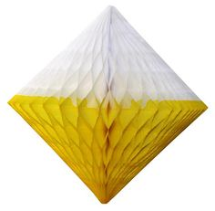 Yellow & white honeycomb diamond decoration. Made in USA by Devra Party. Yellow Party Decorations, Diamond Decorations, Tissue Paper Ball, Table Centerpieces, Best Part Of Me, Decorating Tips, Color Mixing, Backdrops, Balloons