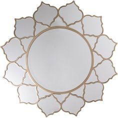 Rowland Champagne Wall Mirror