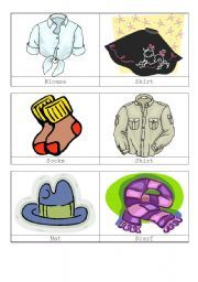 English Worksheets: Clothes and Accessories 1