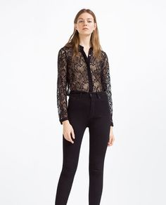 Image 1 of LACE SHIRT from Zara