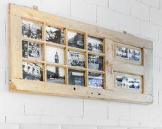 Nie wyrzucaj starych drewnianych drzwi - nawet te bardzo obdrapane, ze stłuczonymi szybkami, mogą się jeszcze przydać. My zrobiliśmy z nich oryginalną ramę na zdjęcia.