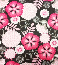 Keepsake Calico Fabric Large Floral Red & Black, , hi-res Baby Fabric, Cotton Fabric, Nursery Patterns, Calico Fabric, Retro Flowers, Fabric Squares, Colored Paper, Joann Fabrics, Floral Fabric