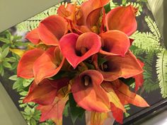 Fall Cala lily bouquet by Rob Jennings