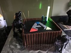Ark Survival Evolved Cake Ark Video Game, Game Ark, 13 Birthday Cake, Birthday Parties, Birthday Ideas, Survival, Xbox Party, Crispy Smashed Potatoes, Cooking With Kids