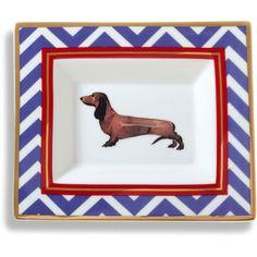 C. Wonder Daschund Ceramic Rectangle Plate ($38) ❤ liked on Polyvore