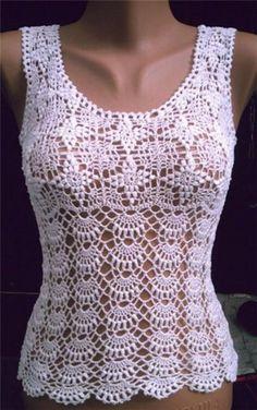 Vest Top Crochet Pattern by Artfire