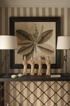 Vignette with large botanical print - design by John Jacob Zwiegelaar of John Jacob Interiors Beautiful Interior Design, Beautiful Interiors, British Colonial Decor, Brown Art, Hotel Decor, Asian Decor, Living Room Art, Berg, Fashion Room