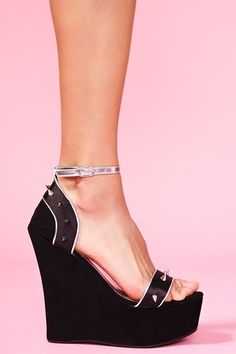 * Walking in Style * / Spiked Platform Wedge |2013 Fashion High Heels|