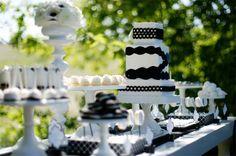 Mesa dulce negra y blanca