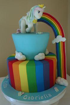 rainbow little pony cake