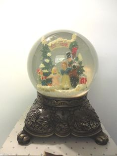 Boxed Traditions Musical Christmas Waterglobe w/ Heirloom Quality Metal Base