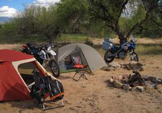 ooooo.... camping with our dirt bikes