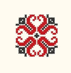 This Pin was discovered by mar Palestinian Embroidery, Cross Stitch Bookmarks, Embroidery Art, Cross Stitching, Diy Clothes, Pixel Art, Flower Art, Needlework, Diy And Crafts