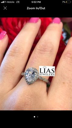 8a8319256 Brand new. Available in most sizes. Tear drop pear shape engagement ring 18  k