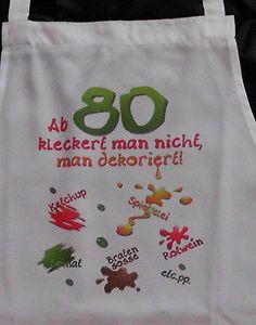 80 Geburtstag klecker Schürze für Erwachsene Scherzartikel Grill Koch Gag
