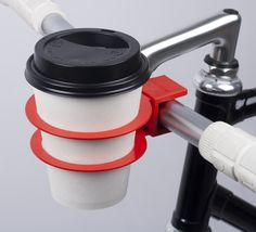 Swedish bicycle accessory brand Bookman has created a cup holder that snaps onto handlebars so city bikers can cycle with their takeaway coffees (+ movie).