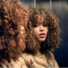 30 best Ideas for super curly hair styles natural curls Curly Hair Fringe, Super Curly Hair, Curly Hair With Bangs, Big Hair, Curly Hair Styles, Natural Hair Styles, Natural Hair Bangs, Natural Curls, Afro Hairstyles