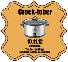 "Work, school, budget... I think many days at my house will be ""Crock-tober"" with all these great recipies.  Starting with Crock Pot Chicken Parmesan!"
