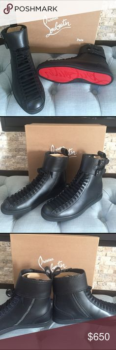 Christian Louboutin sneakers Brand new , never worn, Christian Louboutin men's black sneaker size 42 which is a US10 Christian Louboutin Shoes Sneakers