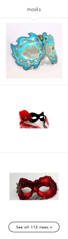 """""""masks"""" by thesassystewart on Polyvore featuring masks, accessories, masquerade, mask, costumes, womens halloween costumes, womens snow white costume, womens costumes, ladies halloween costumes and white halloween costumes"""