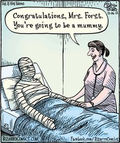 A mummy! LOL - Halloween comic