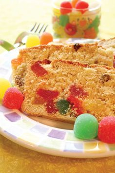 This Gumdrop Cake recipe calls for all flavors of gumdrops except the black-licorice gumdrop.