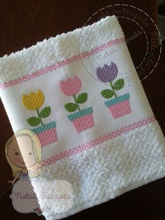 Applique Towels, Applique Quilts, Embroidery Applique, Machine Embroidery, Dish Towels, Hand Towels, Tea Towels, House Quilts, Baby Quilts