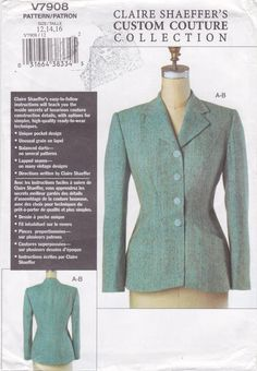 Vogue 7908 Claire Shaeffer Jacket