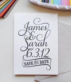 Wedding Logo custom logo save the date custom by AlmostSundayInc Save The Date Wording, Diy Save The Dates, Wedding Save The Dates, Save The Date Cards, Diy Wedding Stationery, Wedding Logos, Wedding Cards, Wedding Invitations, Wedding Script