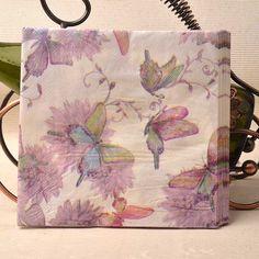 33*33 cm 20 PCS/Pack Rêve Violet Papillon Vintage Serviette En Papier Parti Vierge 100% Bois Papier Serviette pour la partie dîner décoration