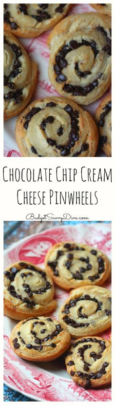 Chocolate Chip Cream Cheese Pinwheels Recipe