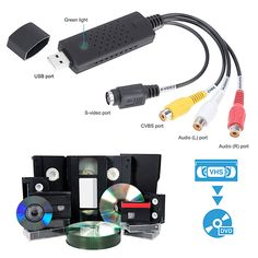 Shop for VHS-to-Digital Video Transfer Device and Software Package. Get free delivery On EVERYTHING* Overstock - Your Online Computer Hardware & Software Store! Composite Video, Vhs To Dvd, Videos, Usb, Arduino Projects, Hardware Software, Computer Hardware, Vhs Tapes, Diy Electronics