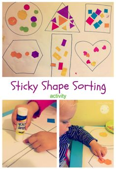 shape sorting activity for toddlers and preschoolers