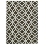 Enhance Chocolate Blue 2 ft. 6 in. x 4 ft. Accent Rug