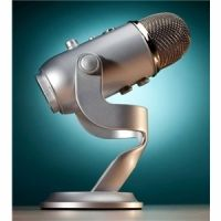 Blue Yeti - Professional quality, 3-capsule USB mic featuring 4 polar patterns, headphone output w/volume control