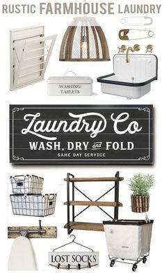 Laundry Co Planked Wood Sign 10 x 24 ready-to-hang by Lettered Lined, Fixer Upper Inspired Farmhouse Rustic Laundry Room Rustic Laundry Rooms, Laundry Decor, Farmhouse Laundry Room, Laundry Room Storage, Laundry Room Design, Laundry Detergent Storage, Laundry Art, Laundry Drying, Laundry Closet