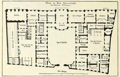 The floor plan of the Hôtel d'Hanau, Strasbourg